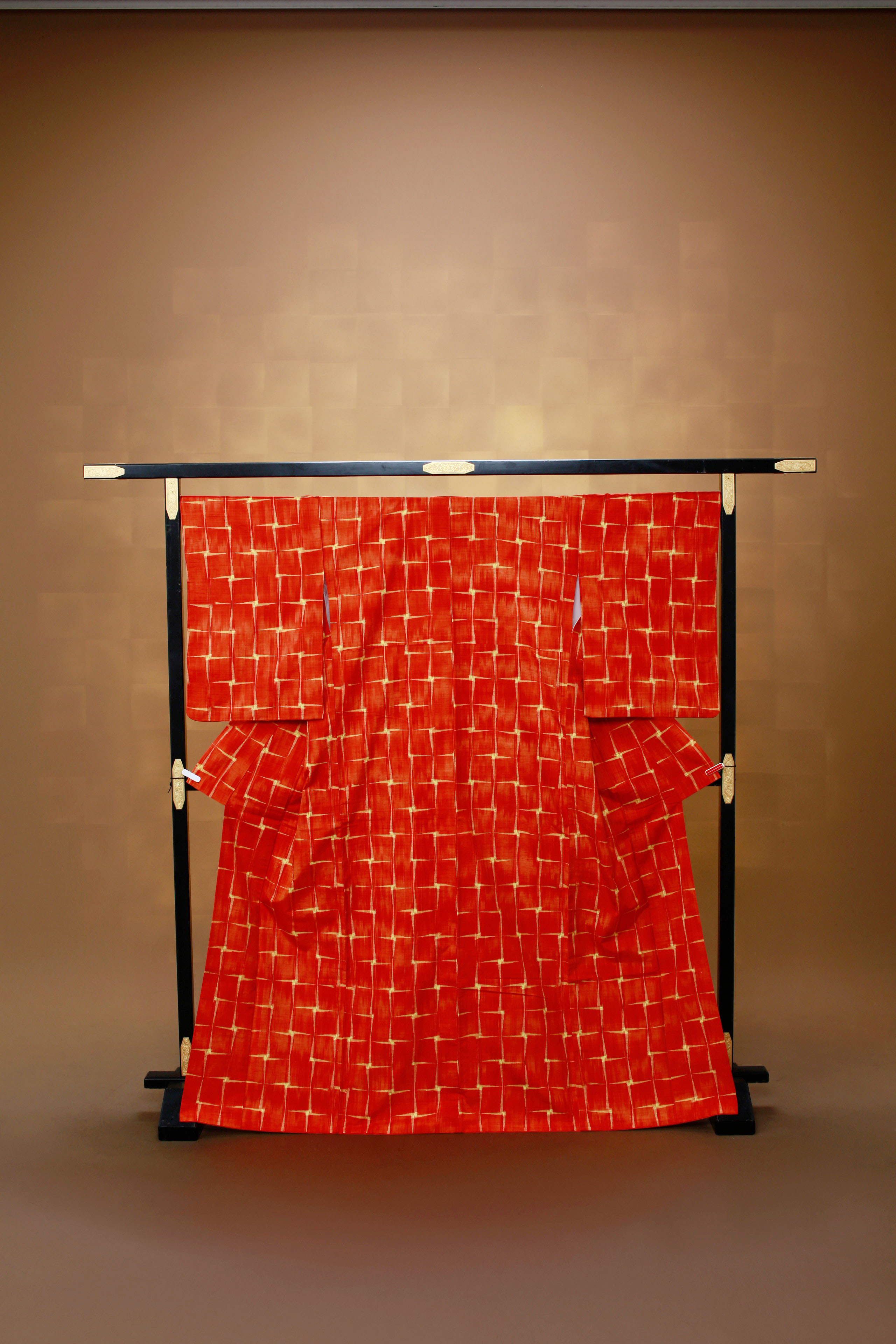 赤 レンタル着物 正絹