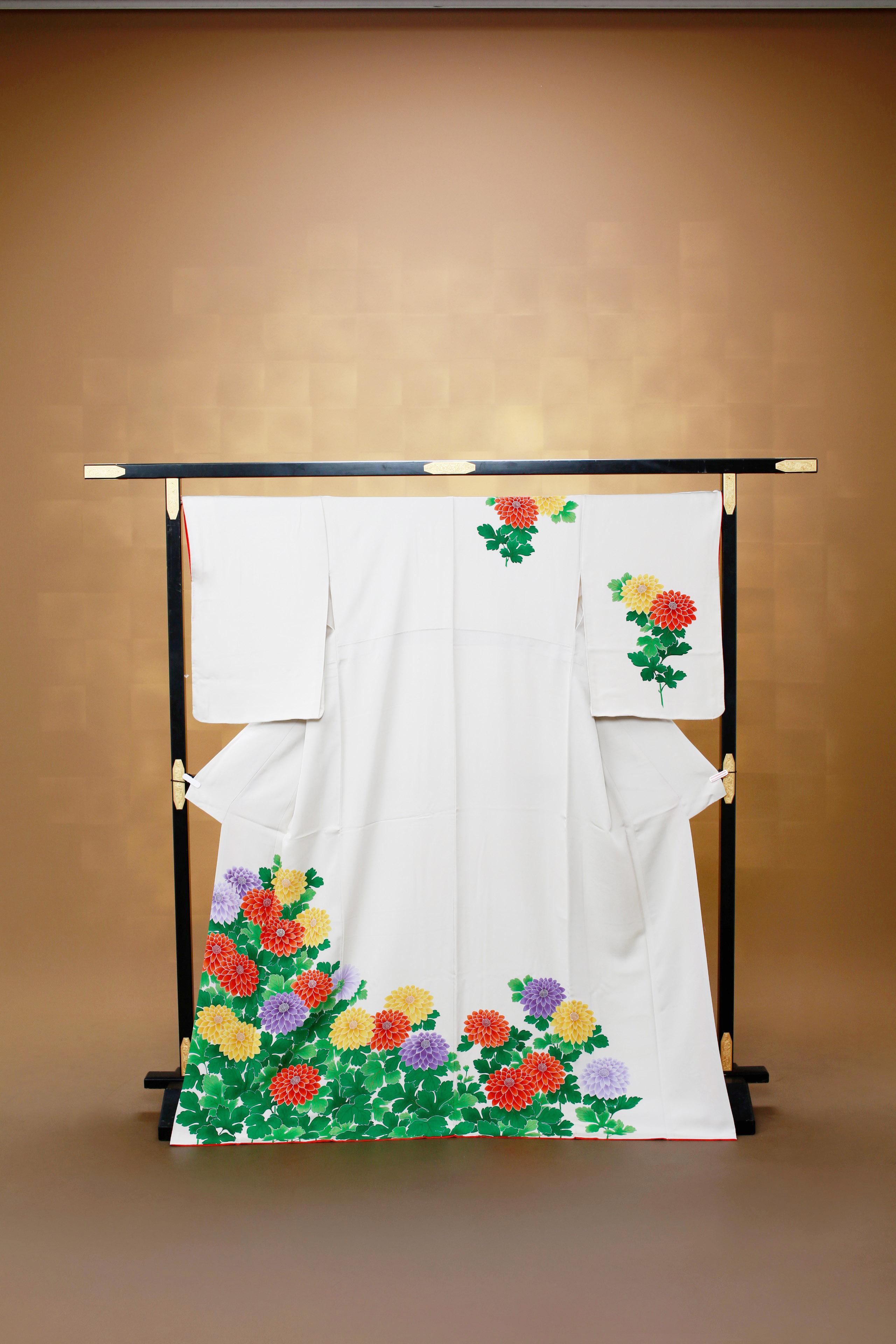 白 レンタル着物 正絹