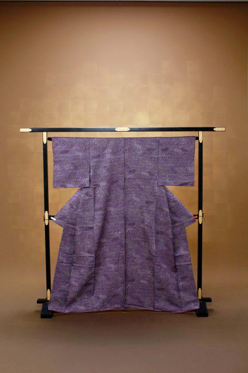 古代紫 小紋 着物レンタル