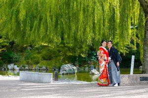 京都 円山公園 池